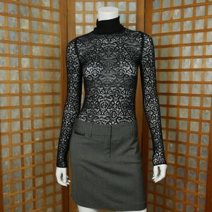 Moda International Lace Turtleneck Top Small